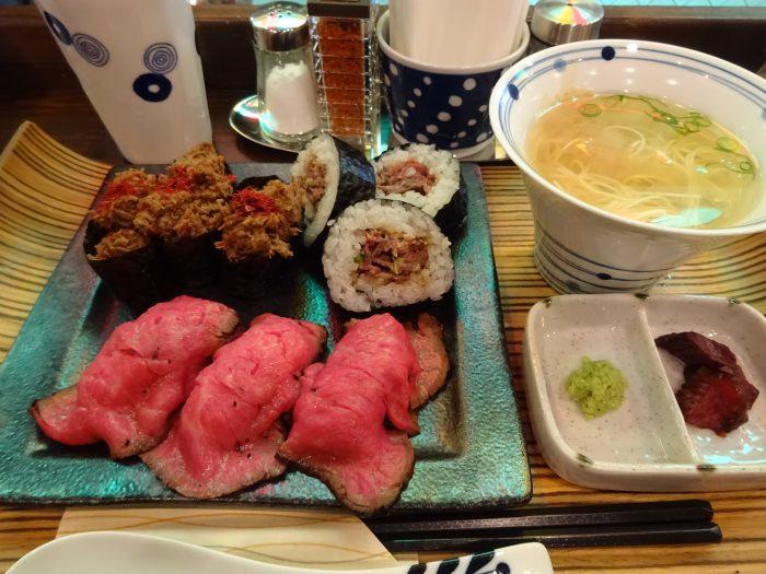 肉寿司定食